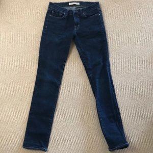 J. Brand pencil leg jeans Size 27 Dark wash.